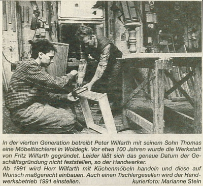 Peter und Thomas Wilfarth 1991